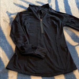 Lululemon 10 half zip black quilted pullover